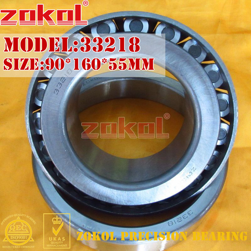 ZOKOL bearing 33218 3007218E Tapered Roller Bearing 90*160*55mm na4910 heavy duty needle roller bearing entity needle bearing with inner ring 4524910 size 50 72 22