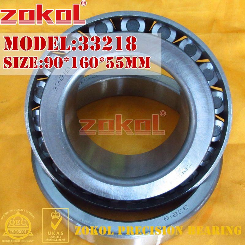 ZOKOL bearing 33218 3007218E Tapered Roller Bearing 90*160*55mm zokol bearing 352218 97518e tapered roller bearing 90 160 95mm