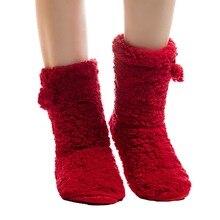 Slippers Home-Dress Floor-Sock Soft-Bottom Winter Women New FRALOSHA Plush Foot-Warmer