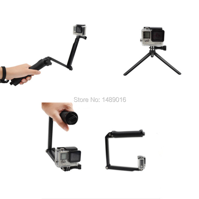 Easttowest Gopro Accessories 3-Way Grip Arm Tripod Camera Pole for Xiaomi Yi Gopro Hero 4 3 SJCAM SJ4000 SJ5000 SJ7000