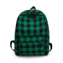 Grid Backpack England Stley 100% Cotton Strips School Backpack For Teenage Girls Preppy Style Leisure Or Travel Bag Shoulder Bag все цены