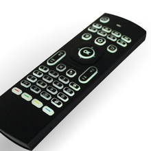MX3 2.4G Backlit Wireless Enam Axis Keyboard Remote Control Mouse IR Belajar Penuh Keyboard dan Mouse TV Remote(China)