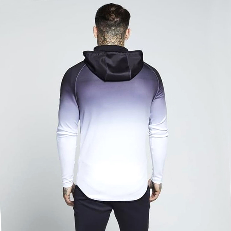 HTB1hKttaEvrK1RjSspcq6zzSXXaJ spring men jacket fashion gradient color thin hooded sweatshirt mens slim zipper Cardigan brand outerwear hoodies streetwear Top