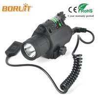 BORUIT Q5 LED 1000 Lumens Flashlight Torch Light Scope Picatinny Mount For Pistol Gun Tactical Insight