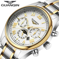 Relogio masculino 2016 GUANQIN Relojes Hombres Marca de Lujo Reloj de Cuarzo Reloj Reloj de Acero Llena Hombres Reloj Casual de Negocios Reloj de Pulsera