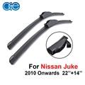 Oge pára wiper blades para nissan juke 2010-2016 par 22 ''+ 14'' windscreen carro de borracha de silicone acessórios