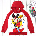 Wholesale 4 Sets/Lot baby hooded childrens clothing boy's girl's top shirts Hooded Sweater Red Mouse hoodie Sports outfits