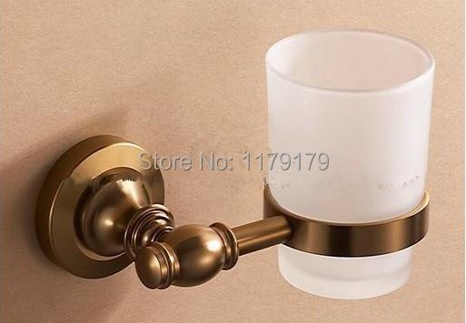 ФОТО free shipping Europen Brush   Antique Brass  Aluminium alloy    bathroom cup , double  toothbrush holder   TC2120