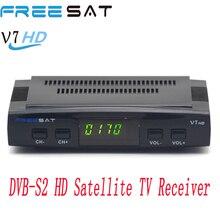 Decodificador de tv Digital por satélite Freesat V7 cline Youtube Youporn CCCam DVB-S2 hd Soporte completo USB wifi receptor de satélite