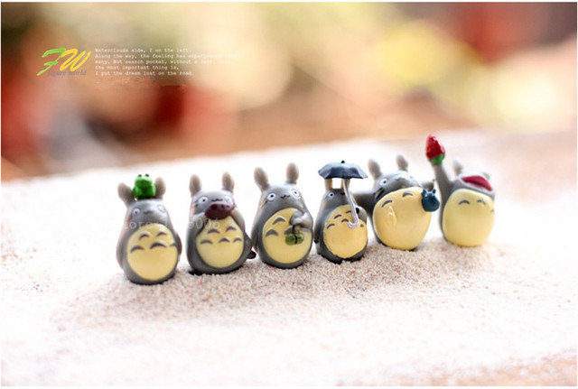 Totoro Resin Miniature Toys(12pieces/lot)