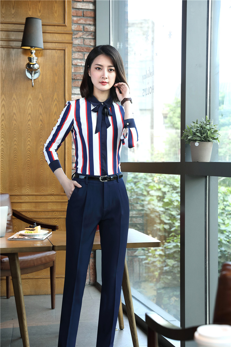 0167d1aea6b Formal Women Business Suits Skirt and Top Sets Blouses   Shirts Ladies Work Wear  Office Uniform Styles OL Light blueUSD 34.32 set