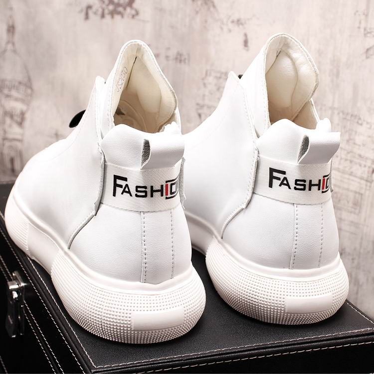 ERRFC Luxury Men's Gold Leisure Shoes Fashion Designer High Top Zip Man Casual Comfort Shoes For Show White Vogue Party Shoes 43 16