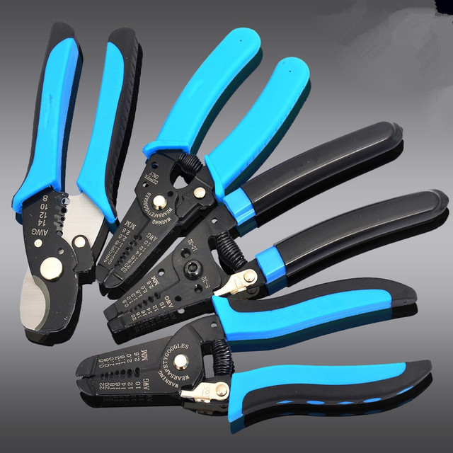 6 Models Wire strippers & Crimping pliers Multifunctional automatic ...