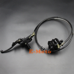 Sistema de pinça de freio a disco traseiro hidráulico almofadas 110cc 125cc atv quad pit pro bicicleta da sujeira gokart buggy novo e-moto