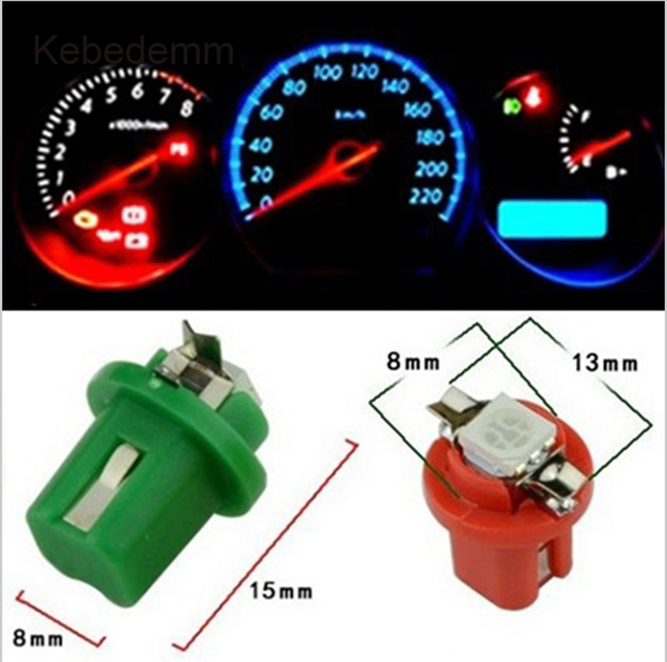 Car Speedo Dash Clocks Dashboard Cluster Gauge LED White Blue Red Pink Green Yellow UV Blue UK B8.5D // 509T // 286 // T5 LED Twist Lock Dashboard LED Bulb
