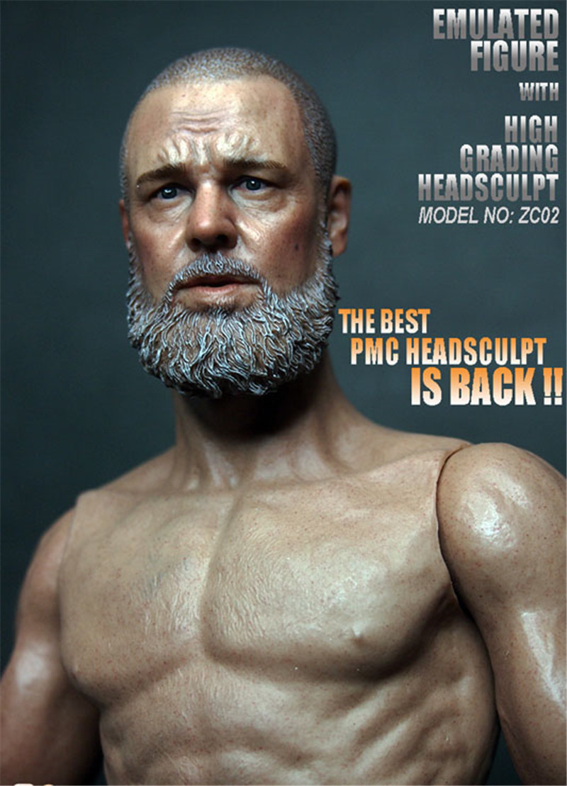 Mnotht Head Sculpt 1/6 Russell Crowe Head Carved Noah's Ark Creation Tour F Muscular Body Toys & Hobbies Action &Toy Figures l30 mnotht head sculpt 1 6 solider head model mk42 mk43 iron man toni carved head for 12in figures toys and body l30