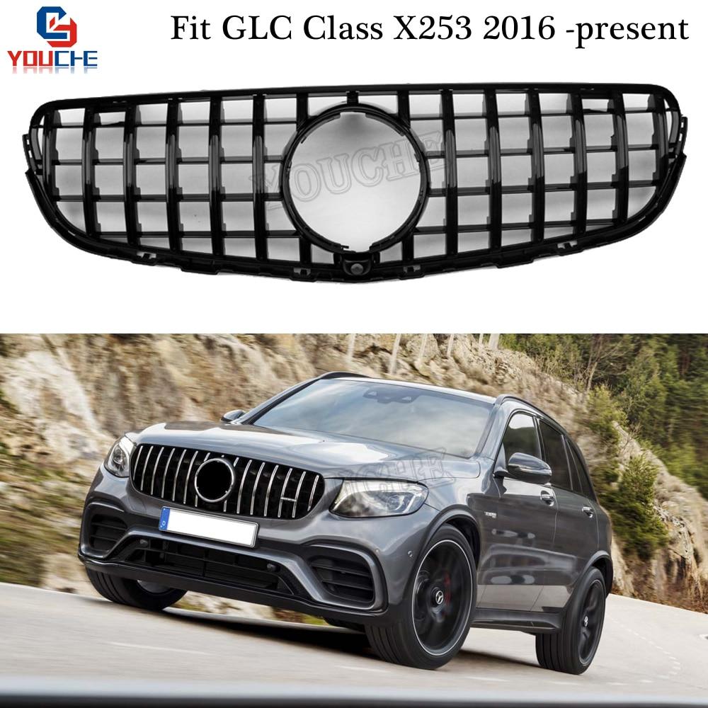 X253 AMGスタイルグリルGT RフロントバンパーグリルメッシュメルセデスGLC W253 X253 2016 + GLC300 GLC350 GLC200 GLC250 GLC43クーペglcクーペрешеткарадиатораamg