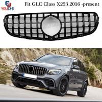 X253 AMG Стиль гриль GT R передний бампер решетка сетка для Mercedes GLC W253 X253 2016 + GLC300 GLC350 GLC200 GLC250 GLC43 купе