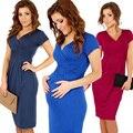 BS # S Лето V-образным Вырезом Эластичный Bodycon Беременная Dress Материнства Туника Платья женская Плюс Размер Платья