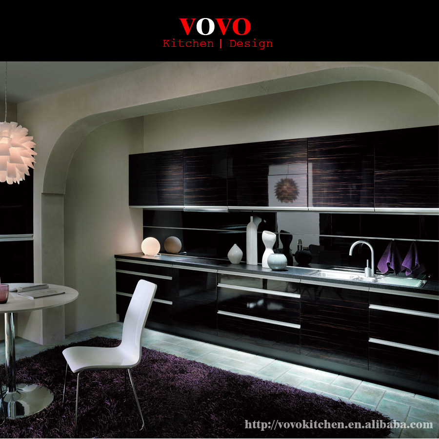 Kitchen Design Uv: 18mm High Gloss Zebra Wood Grain Uv Kitchen Cabinet-in