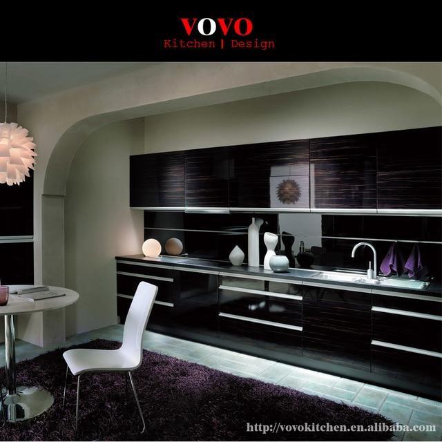 18mm High Gloss Zebra Wood Grain Uv Kitchen Cabinet In Kitchen
