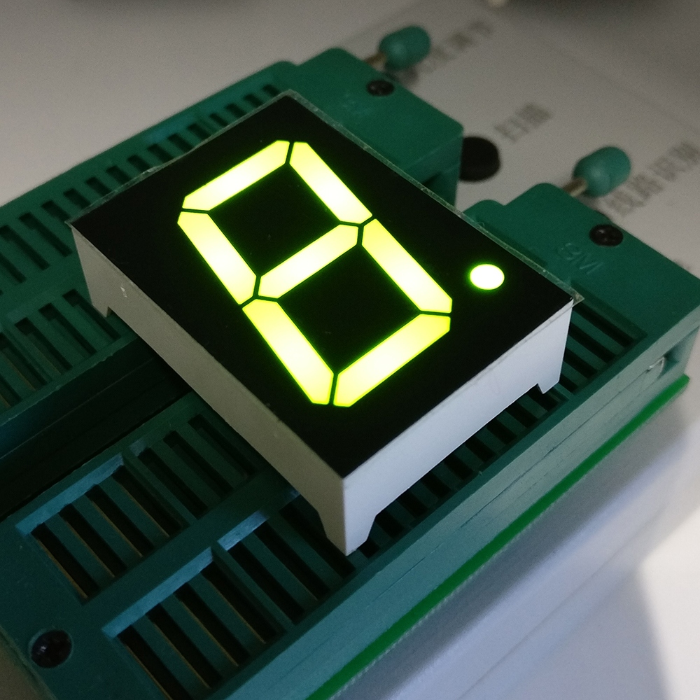 New 1 Bit 1 inch Digital Tube LED Display High White/Green/Yellow/Yellow Green Light 7 Segment Common Anode 100 pcs ld 3361ag 3 digit 0 36 green 7 segment led display common cathode