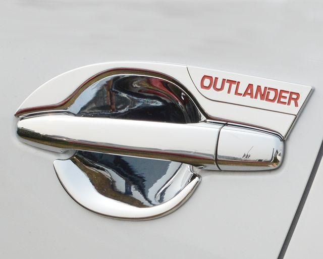For Mitsubishi Outlander 2013-2017 Car Styling Inner Door Handle Cover Door Bowl Frame Trim Sticker Accessories Blade door bowl