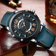 새로운 가죽 시계 망 최고 브랜드 curren 패션 남자 시계 인과 비즈니스 석영 손목 시계 선물 relogio masculino