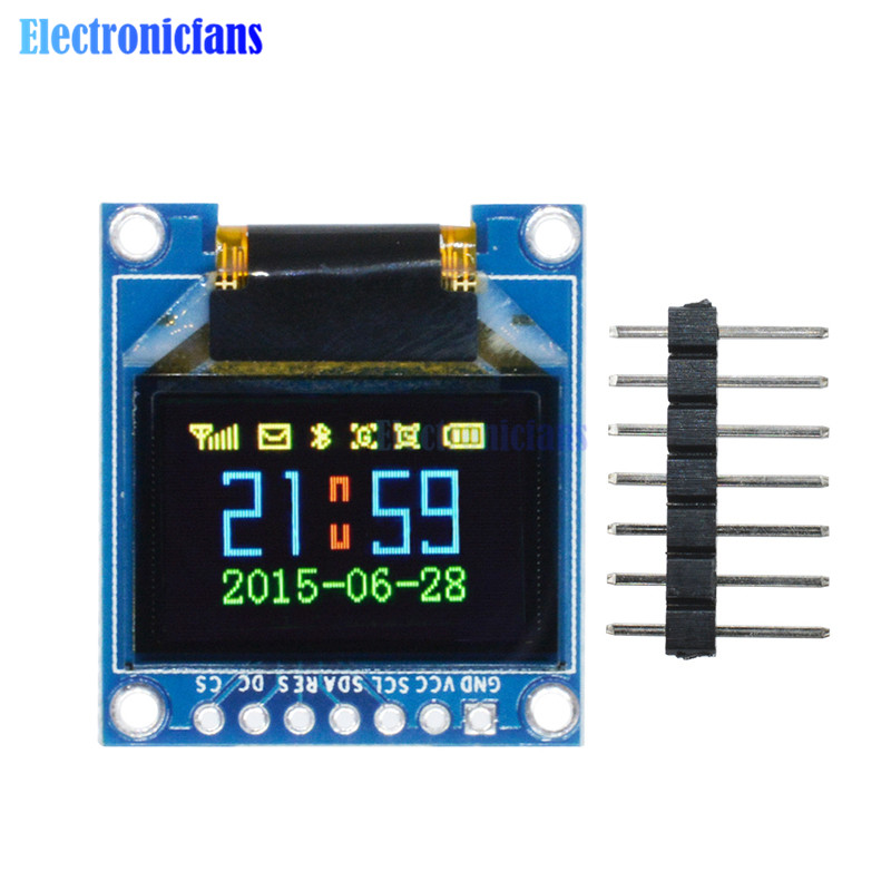 0.95 Inch 96*64 <font><b>SPI</b></font> Full Color OLED Display 7pin DIY Module 96x64 LCD For <font><b>Arduino</b></font> SSD1331 Driver IC 3.3V 5V Top Quality image