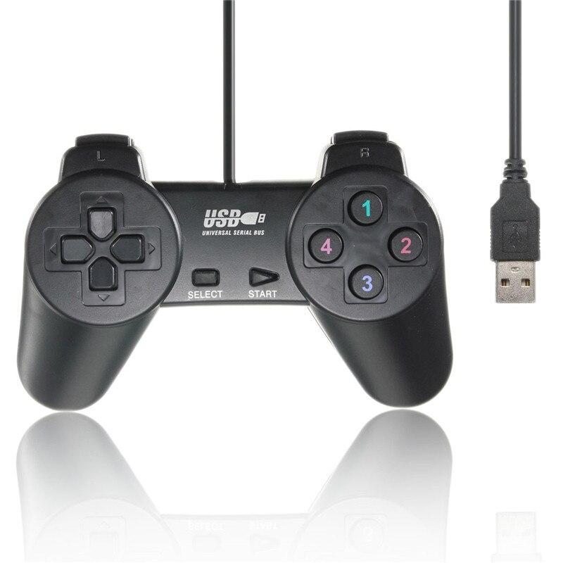 החדש חם שחור USB 2.0 Wired Gamepad ' ויסטיק Joypad Gamepad בקר המשחק עבור PC, המחשב הנייד על XP/Vista