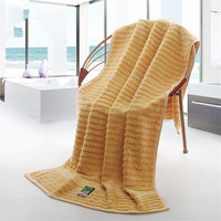 70*140 cm Bamboo Fiber Large Bath Towel Solid Thick High Absorbent Antibacterial Solid Towel Rectangle Home Textile TW046