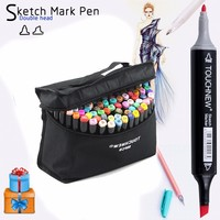 TOUCHNEW 30 40 60 80 168 Colors Art Markers Set Oily Alcohol Double Headed Sketch Markers