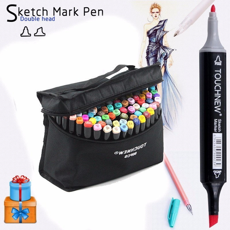 TOUCHNEW 30/40/60/80/168 Colors Art Markers Set Oily Alcohol Double Headed Sketch Markers Pen Professional Design For Manga Draw touchfive 36 48 60 72 colors art marker set oily alcoholic sketch markers double headed for animation manga draw