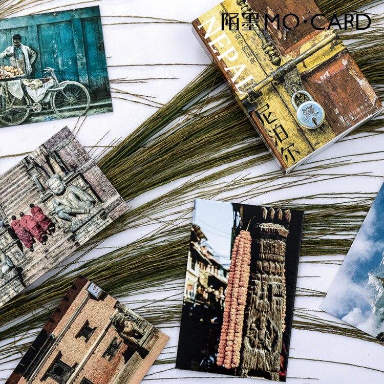 54 Blätter/set Kreative Nepal Postkarte/gruß Karte/wünschen Karte/weihnachten Und Neue Jahr Geschenke Novel Design; In
