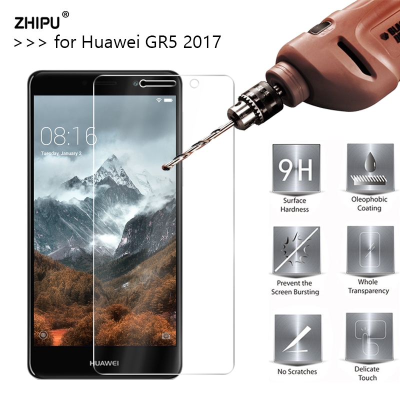 2.5D 0.26Mm 9H Premium Tempered Glass For Huawei Gr5 2017 Display Protector Toughened Protecting Movie For Huawei Gr5 2017 Glass