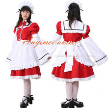 Free Shipping Sexy Sissy Maid Cotton Dress Uniform Cosplay Costume Tailor made