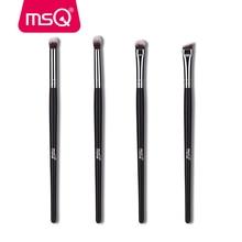купить MSQ 4pcs Eyes Makeup Brushes Set Highlighter Blending Eyeshadow Eyebrow Cosmetic Tool Make Up Brush Eye Shader Synthetic Hair онлайн