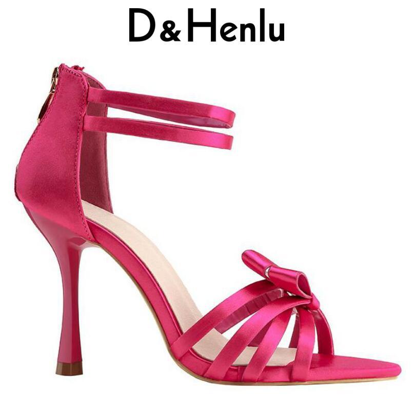 D&Henlu Dance Shoes Latin Ankle Strap Sandals Women Shoes Summer 2018 Pumps High Heels Shoe Ballroom Dance Shoe Women Sandals
