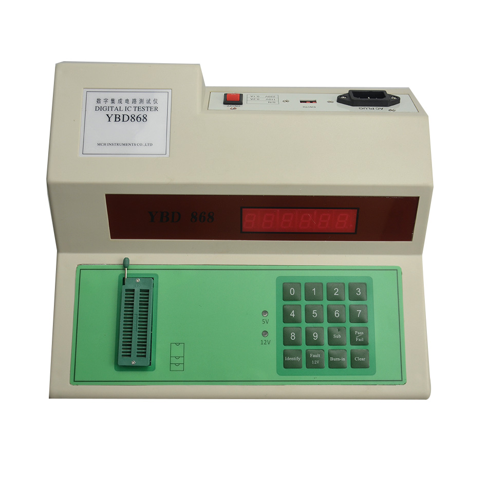 Digital IC tester digital integrated circuit measuring-testing instrument YBD-868 Y integrated circuit ic tester transistor tester online maintenance digital led transistor ic tester