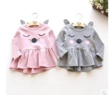 2016 New Children Fashion Hoodies girls Warm Sweatshirts Girls Cute Sweater Kids Fashion Top Clothes