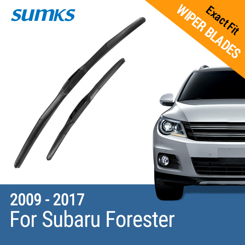 SUMKS Wiper Blades for Subaru Forester 24&18/26&17 Fit Hook Arms 2009 2010 2011 2012 2013 2014 2015 2016 2017