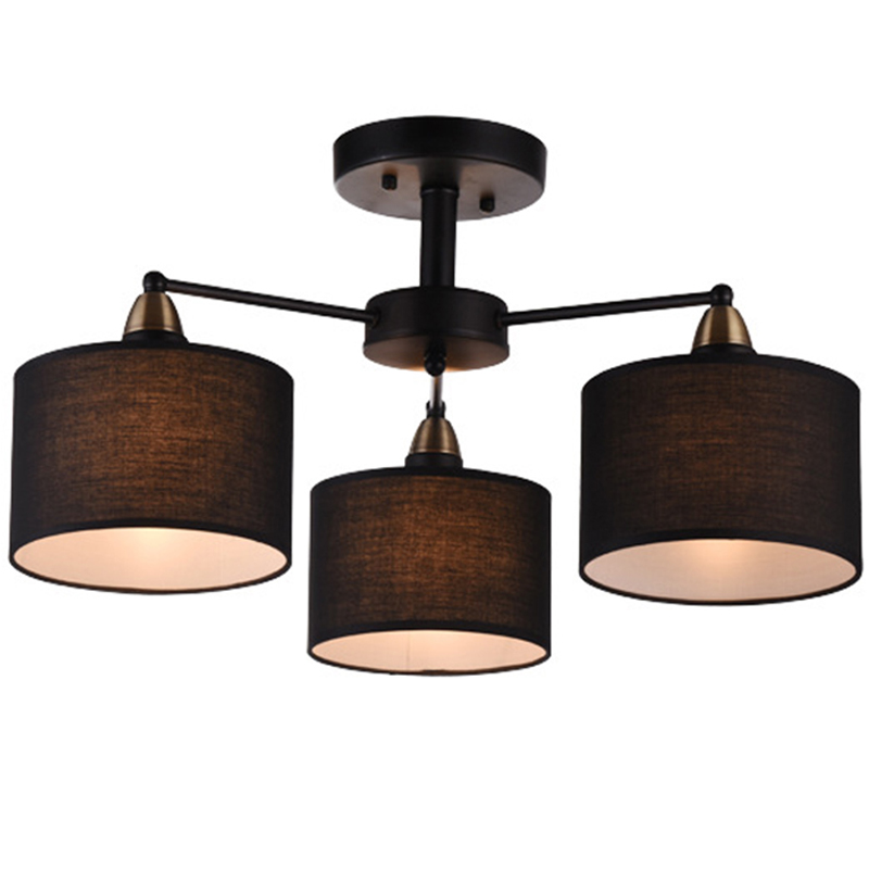 Elegant Modern Minimalist Style Pendant Lamp Iron Pendant Lights with Fabric Lampshade For Living Room Dining Room 110/220V E27 a1 master bedroom living room lamp crystal pendant lights dining room lamp european style dual use fashion pendant lamps
