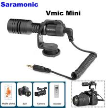 лучшая цена NEW Saramonic Vmic Mini Condenser Shotgun Microphone with TRS & TRRS Cable for iPhone 8 8 plus 7 Android Smartphones PC Tablet