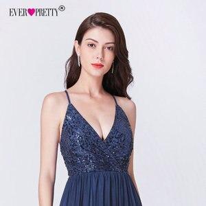 Image 5 - Robe de soiree 2019 ever pretty ep07468nb novo elegante a linha v pescoço sem costas longos vestidos de noite formais lantejoulas vestidos de festa