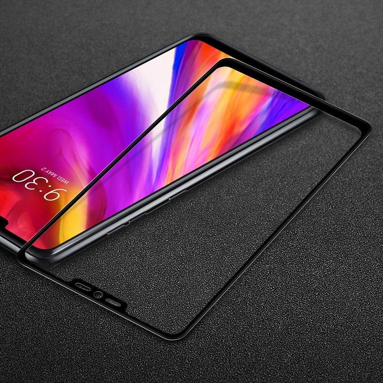 Pour LG G7 ThinQ G7 + G710EM Trempé Verre Pour LG G7 ThinQ IMAK Pro + Plein Écran En Verre Couverture écran Protecteur