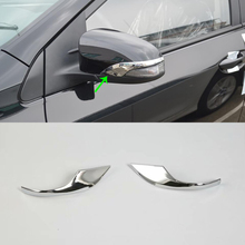 2017 ABS Plastic Car Rearview Mirrors scuff plate  Decoration Trim 2pcs For TOYOTA COROLLA