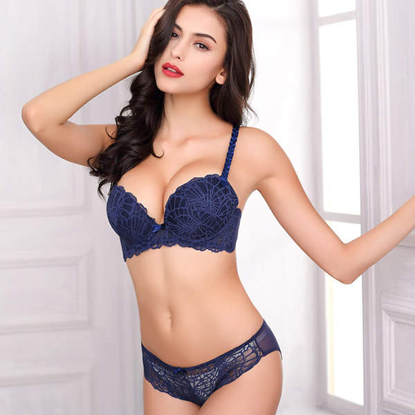 19485f8e4 placeholder Luxury Sexy women Embroidery Push Up Lace Bra Set  Briefs  Lingerie yw052