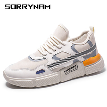 Sneakers Men Lace Up Mens Shoes Casual Breathable Lightweight Mesh Fashion Flats Sneakers Outdoor Non-slip Male Footwear