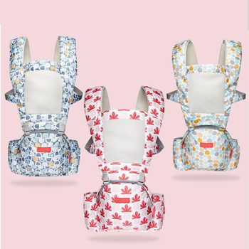 2019 Summer Breathable Baby Carrier Infant Hipseat Front Facing Ergonomic Kangaroo Wrap Sling for Travel 0-36M