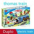 Duplo de thomas tren de juguete placa duplo lepin figuras compatible con lepin legoinglys duplo bloques de construcción de Juguetes Educativos